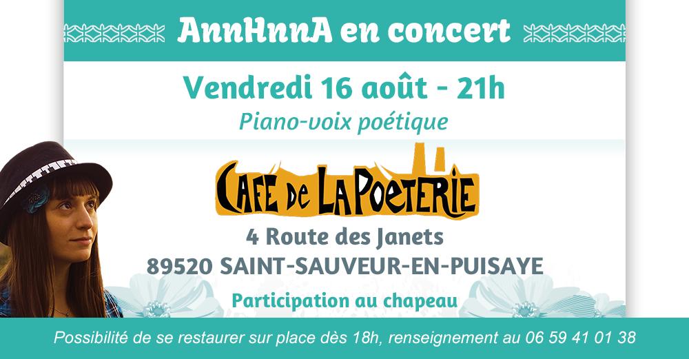 Concert AnnHnnA Café de la poèterie