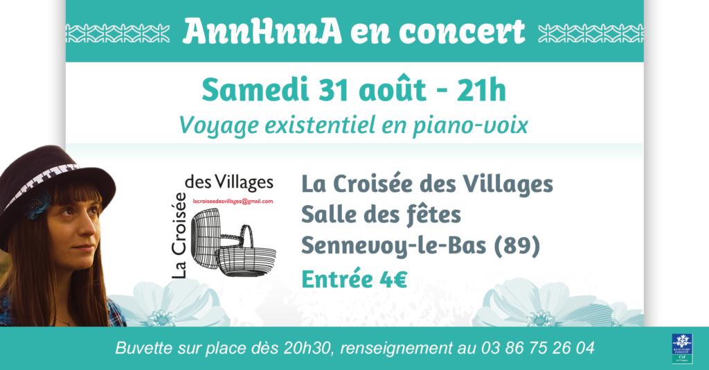 Concert Sennevoy-le-Bas AnnHnnA La Croisée des Villages