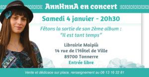 Concert AnnHnnA librairie Maipiu